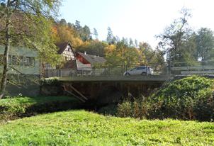 Sanierung der Brücke über den Haslochbach an der Fechermühle