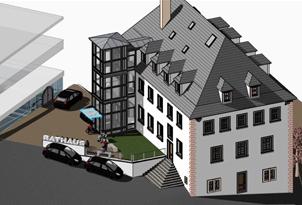 Energetische Sanierung/Maßnahmen zur Barrierefreiheit Rathaus Arnstein