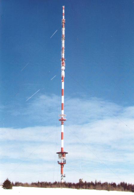 Sanierung des Fernsehturms am Heidelstein in der Rhön
